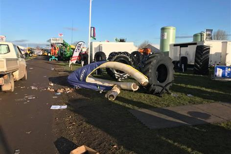 Agricultural machinery show LAMMA closes due to severe weather