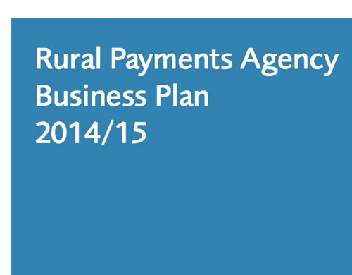 Rural Payments Agency business plan 2014...