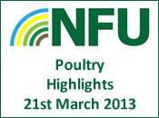 NFU Poultry Highlights - 21st March 2013
