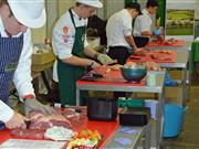 Action from the Welsh Young Butcher competition last year