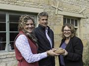 Openfield's Sarah Bell and James Dallas with General Manager Debbie Queen