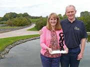 Helen and David Brass of the Lakes Free Range Egg Co with their latest award