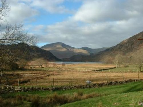Llyndy Isaf is a 248 hectare (614 acre) hill farm in the Nant Gwynant valley