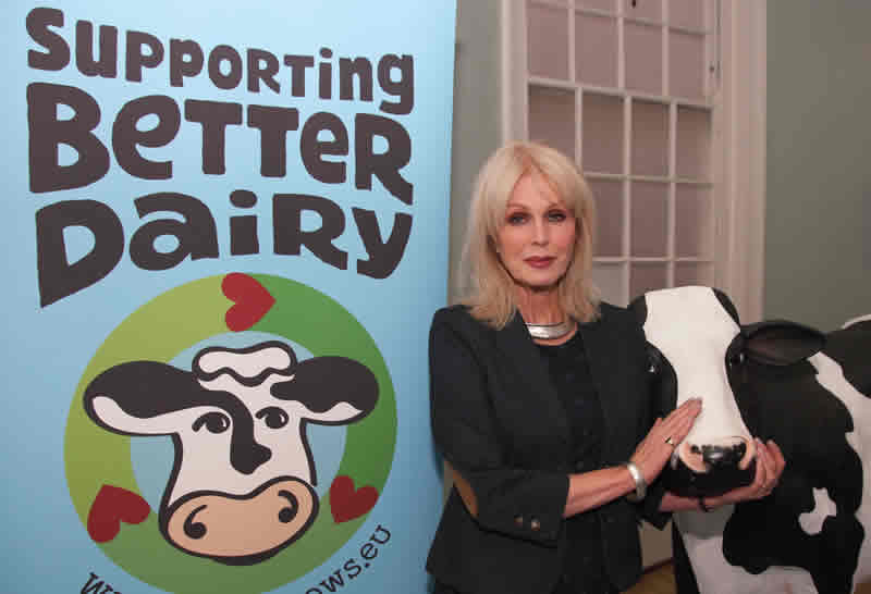 Joanna Lumley launches the Supporting Better Dairy campaign © Supporting Better Dair