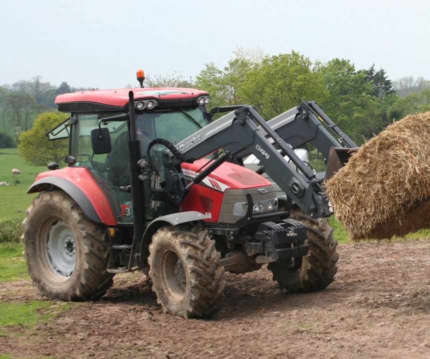 The McCormick X60.40 and loader will perform handling duties around buildings and some field work.