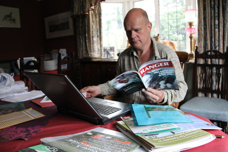 British Free Range Egg Producers Association Chairman Roger Gent