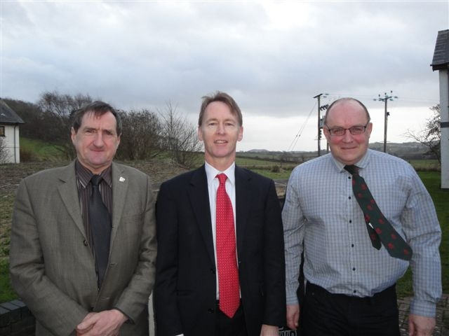 From left: FUW president Emyr Jones, Natural Resources Wales chief executive Emyr Roberts and FUW land use and parliamentary committee chairman Gavin Williams.