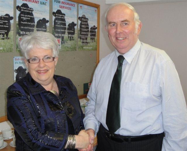 PRESERVING THE LANGUAGE: Mansel Charles and Ellen ap Gwynn.