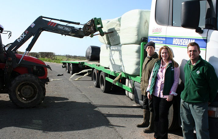 Donated animal feed arrives for snow-hit farmers