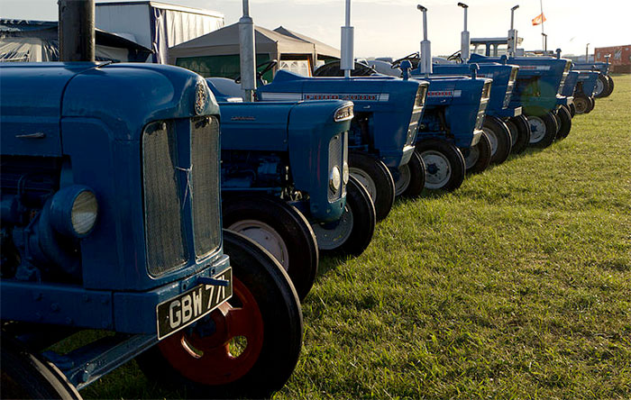 Vintage tractors on display at South West festival