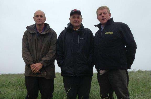 Left to right, Alister McIntyre, his father Wullie McIntyre and Duncan Dunlop