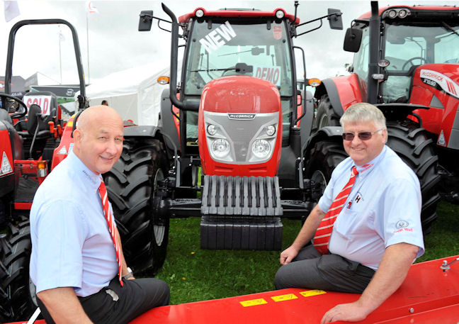 Bryan Hoggarth (right) with Ray Spinks, general manager and sales director at McCormick distributor AgriArgo UK.