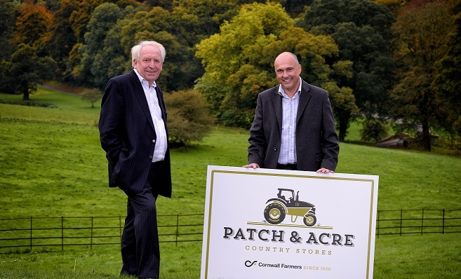 Chris Pomfret (left) with Simon Birch, chief executive of Cornwall Farmers