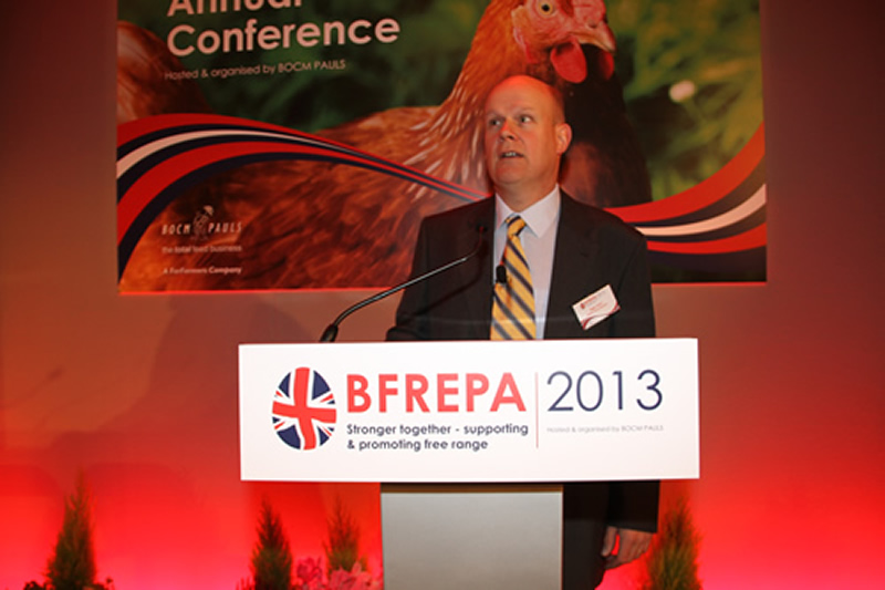 Chairman of the British Free Range Egg Producers Association, Roger Gent