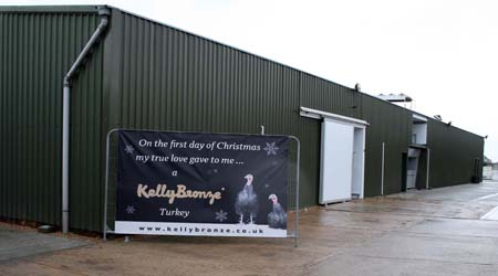 The redeveloped Kelly Turkey processing plant —  plus the new poster to promote KellyBronze  for this Christmas