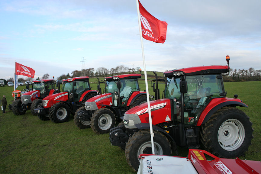 McCormick line-up at the Bryan Hoggarth customer day staged at the Westmorland showground near Kendal.