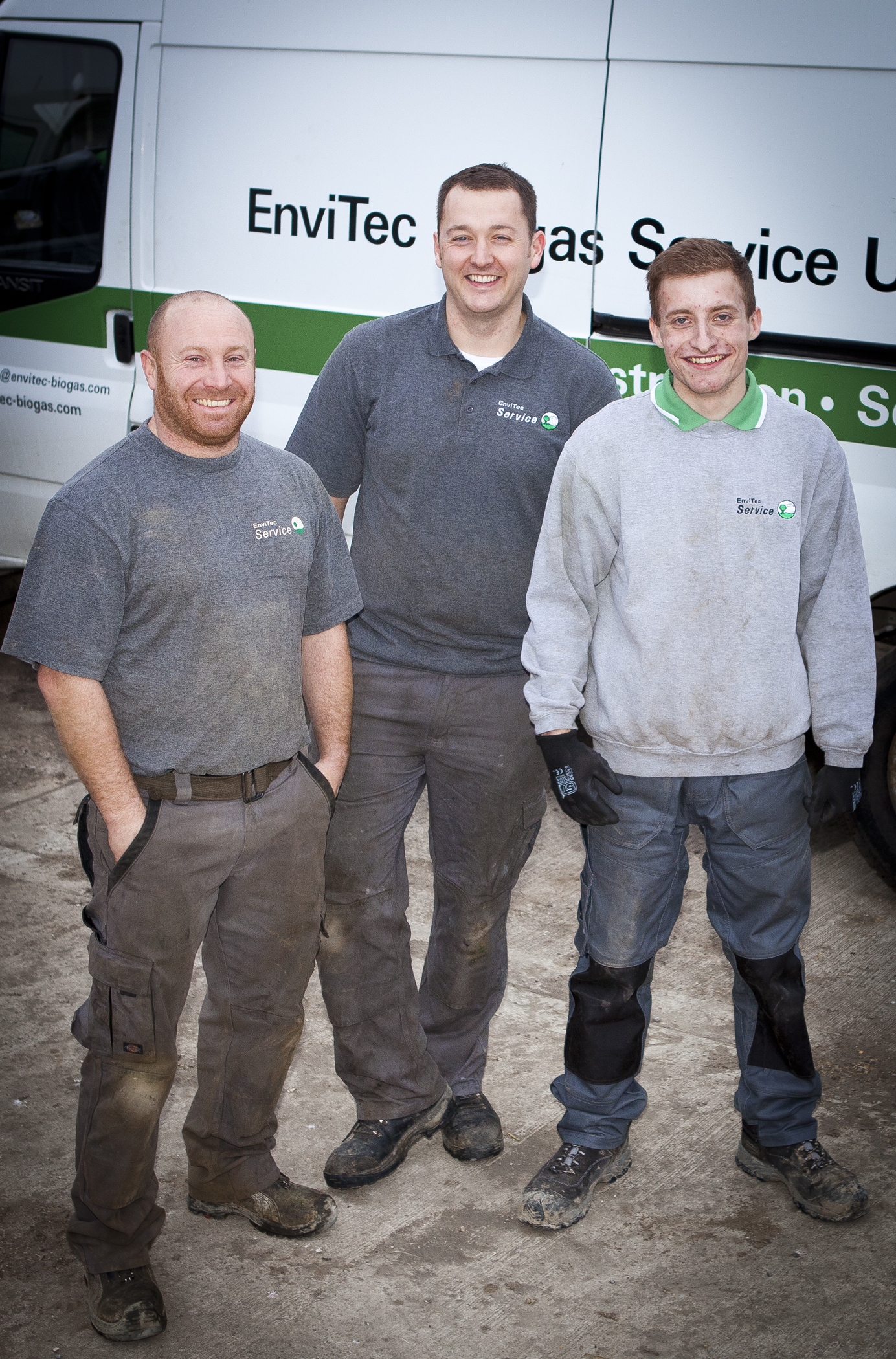 Left to right - Graham Cocking, Philip Mason and apprentice Gary Hurd, all of the EnviTec Biogas UK Service Team