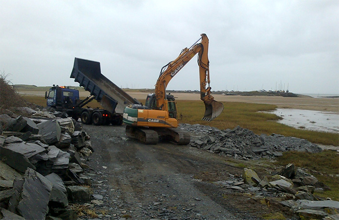 Work starts at Llanbedr to repair flood defence