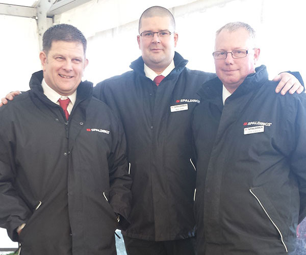 Spaldings Agricultural Field Sales team get weighed in! From left to right Roger Goodwin, Jason Smith, Eddie Edwards