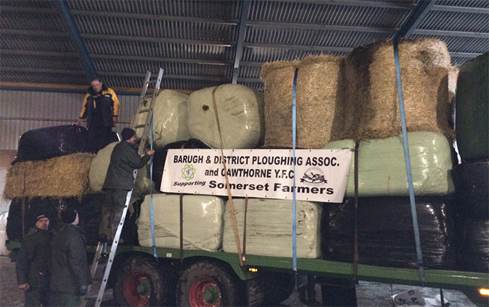 Farmers 225 mile Forage Aid mission to flood-stricken Somerset