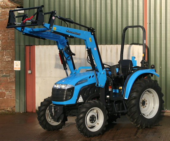 The Landini 1-55M has a 12x12 transmission and good clearance under the front portal axle.