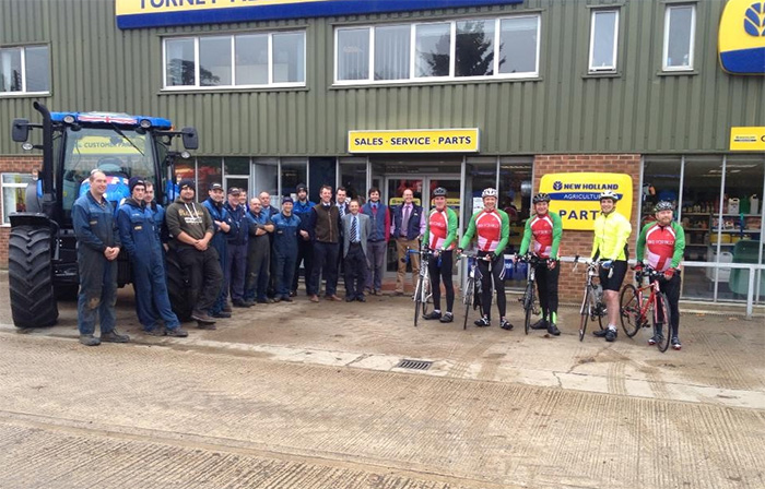 New Holland fundraiser cycles over land and sea