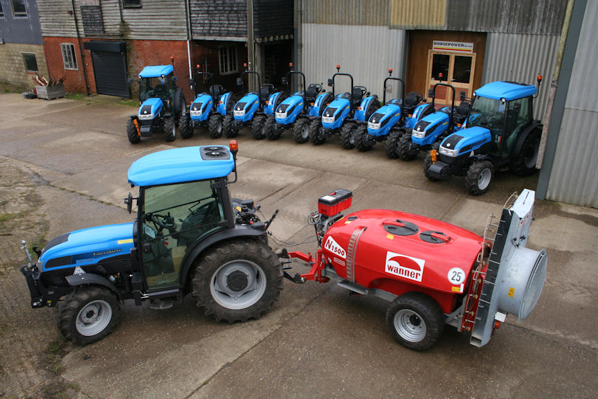 Fruit machinery specialist Horsepower UK supplies and supports Landini Rex and Mistral fruit tractors from its new base in Selling near Faversham. It is also the national distributor for Wanner orchard sprayers.