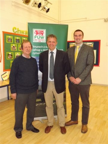 ISSUES RAISED: From left, FUW vice president Brian Walters, Philip Meade and Rhodri Jones.