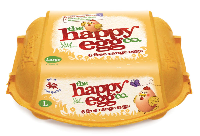 Happy egg have brand makeover