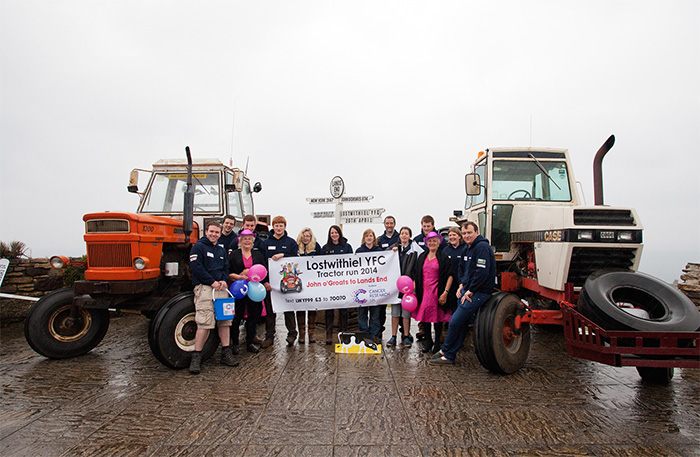 Classic tractor journey raises money for charity