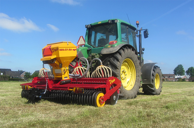 New Vredo Agri Air overseeder at Grassland