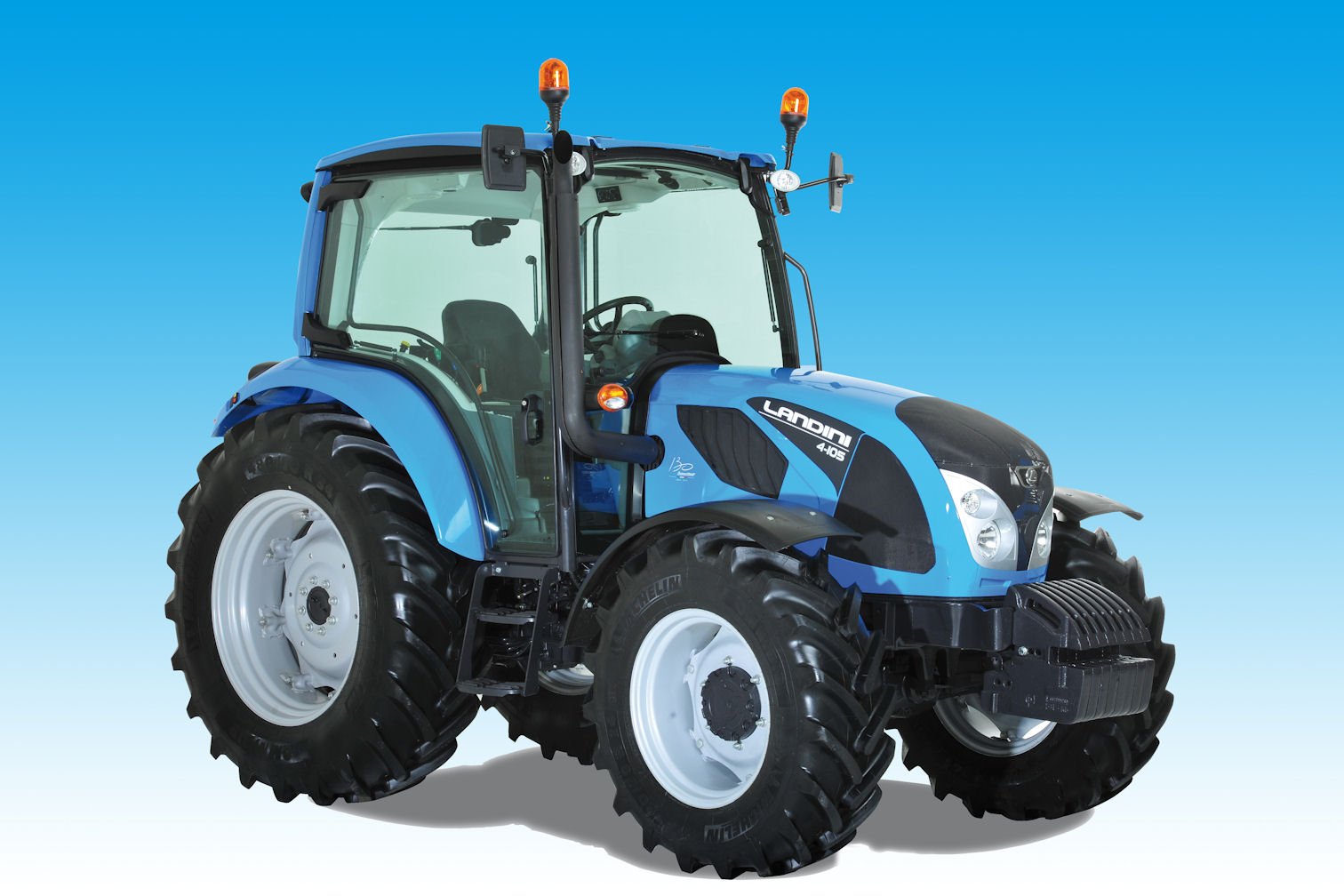 Landini 4 Series tractor is an all-new design primarily for the livestock sector with power outputs from 90-107hp using a compact four-cylinder engine.
