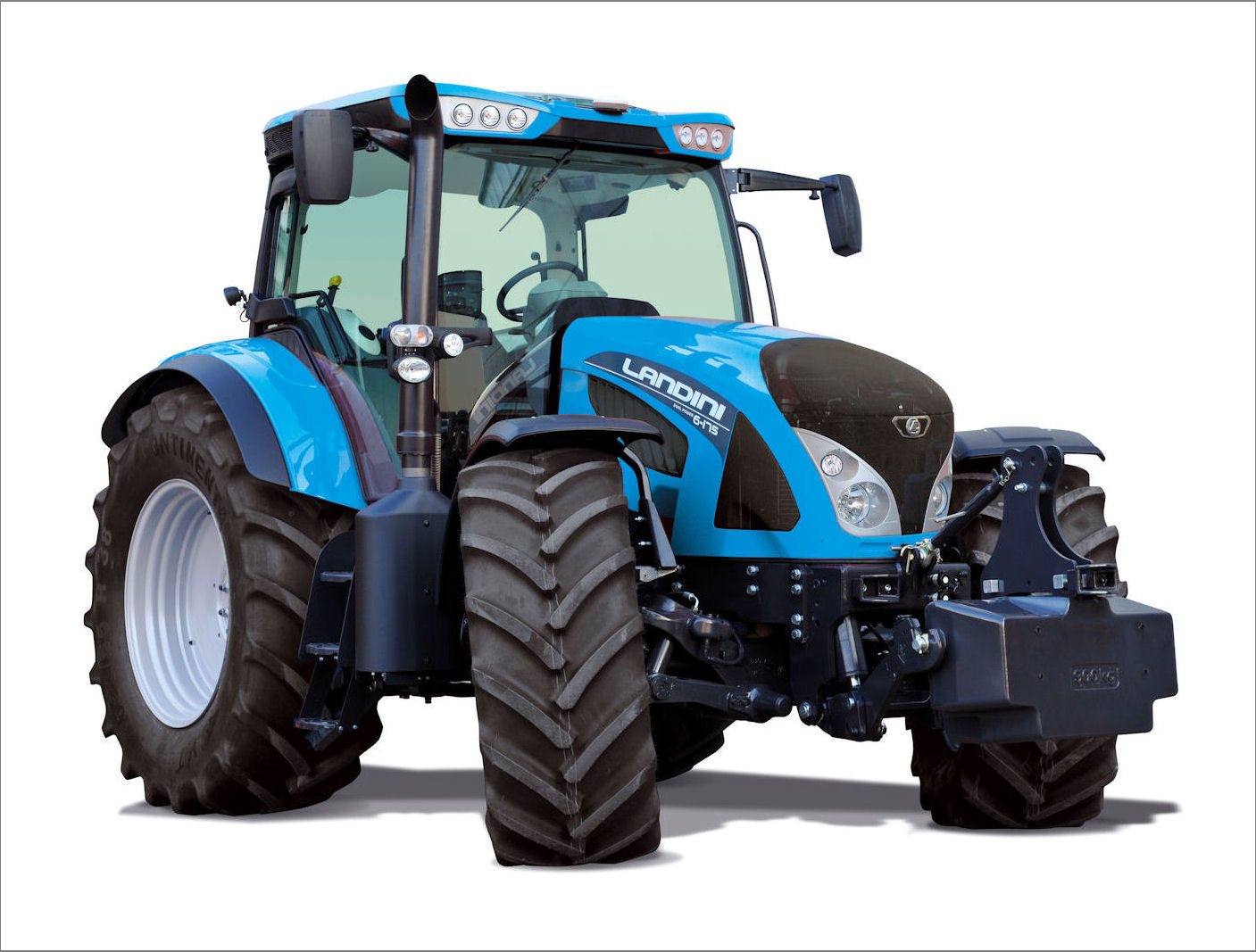 High-spec features abound on the new Landini 6 Series tractors, including fingertip seat-mounted controls for most functions in the well-appointed Lounge cab.