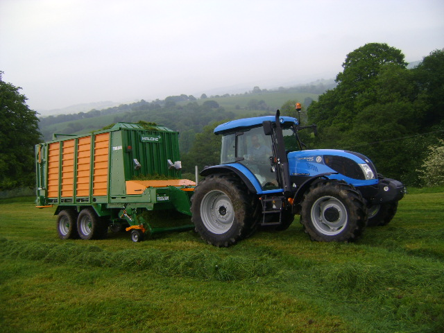 Landini Landpower six-cylinder (pictured) and 5-H four-cylinder tractors will be in action on the Malone Farm Machinery working plot.