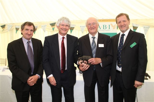 DEDICATED SUPPORTER: From left, Emyr Jones, Peter Davies, Lord Plumb and RABI trustee for Wales Malcolm Thomas.