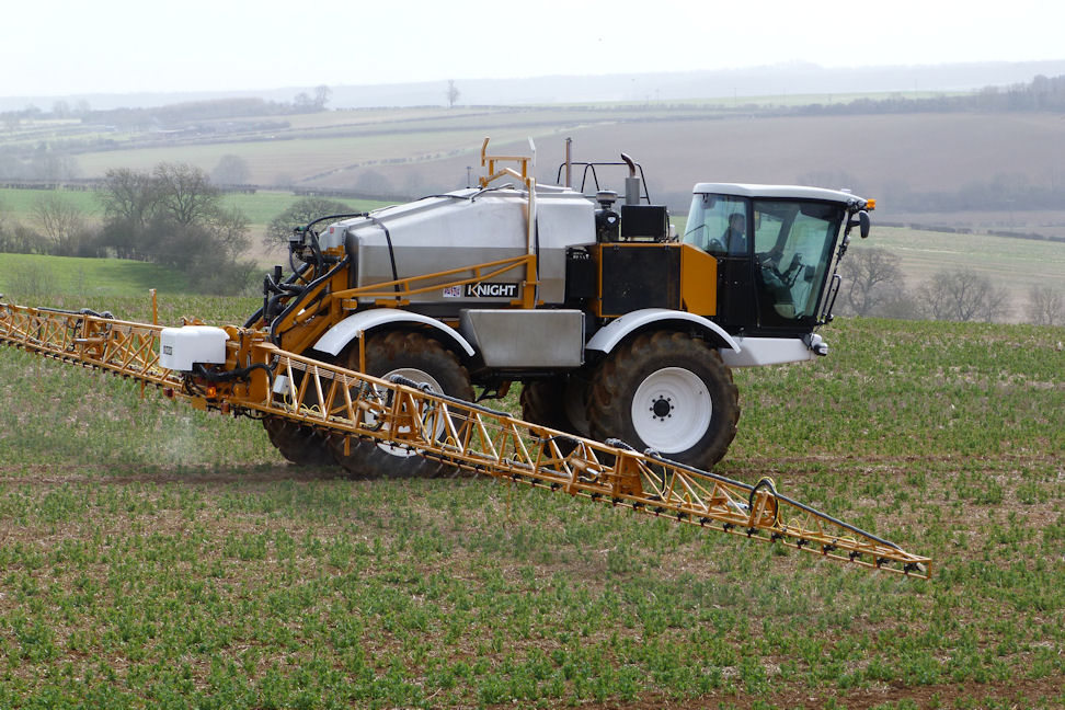 Knight Farm Machinery is exhibiting its SP2050 self-propelled sprayer with the Hypro Duo React nozzle bodies installed at the Cereals Event and offers the system trailed and mounted sprayers too.