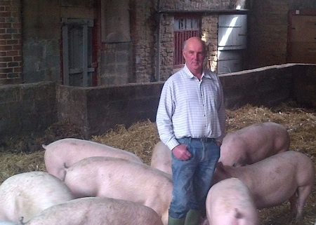 Stephen Till, who has changed boars to enable him to increase the slaughterweight of his finishing pigs