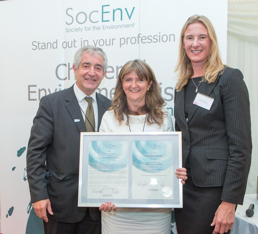 LEAF Chief Exec awarded honorary fellowship of the Society for the Environment