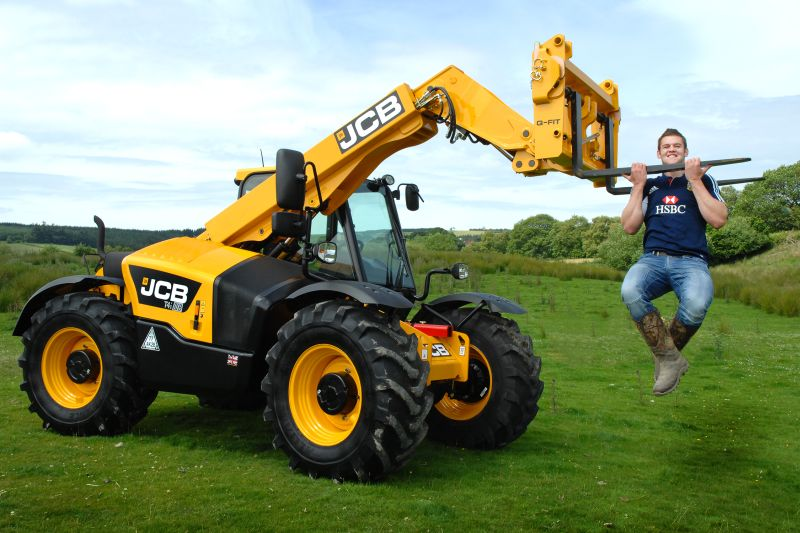 Welsh Rugby star Dan Lydiate beefs up JCB's promotion
