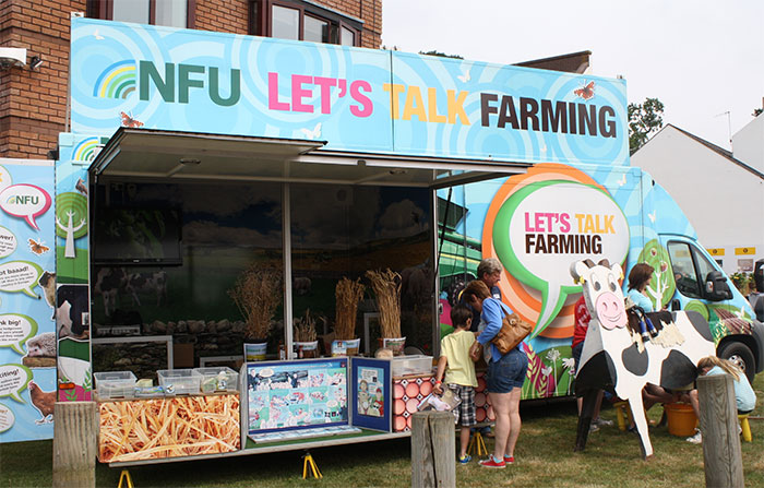 Johnny Ball NFU Roadshow visits Royal Welsh Show