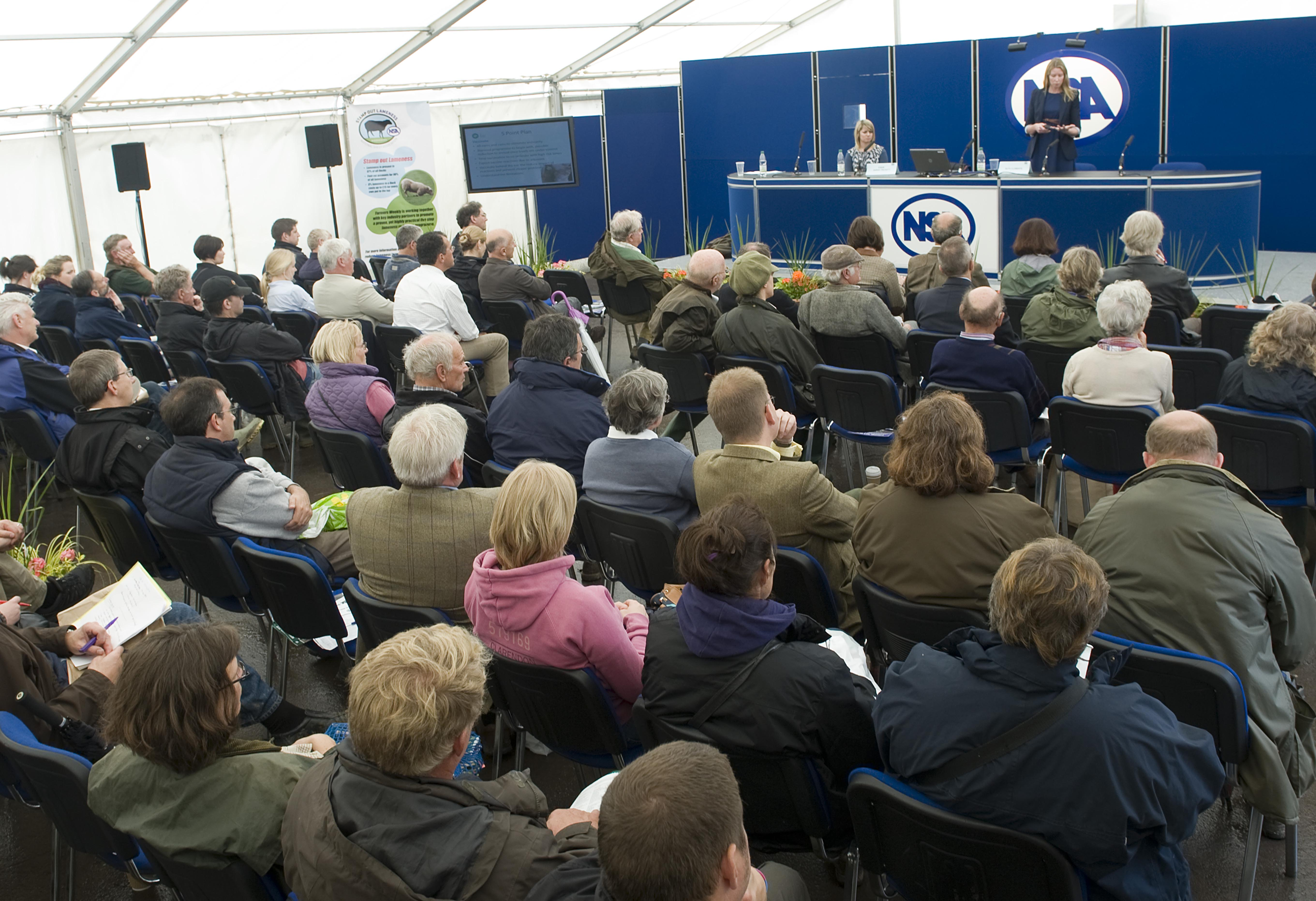 Packed audience at 2012 seminars