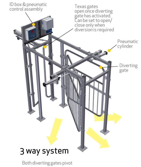 Fullwood offers a range of three and two-way segregation systems for easy cow handlin