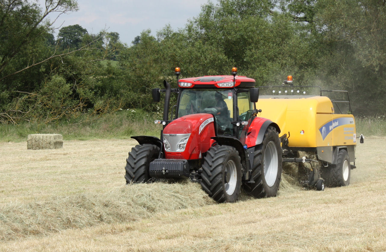 Tractor in action: Duncan Hawley's McCormick X7.680 Pro Drive has up to 212hp available for pto-driven implements and machines like his big square baler.