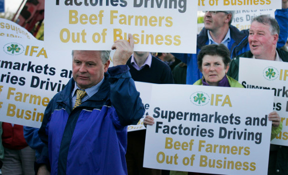 Irish beef farmers 'have had enough' as they begin protests