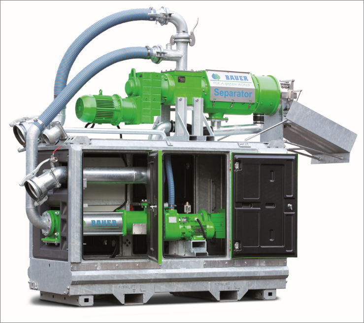 Bauer mobile separator for large farms and contractors ...