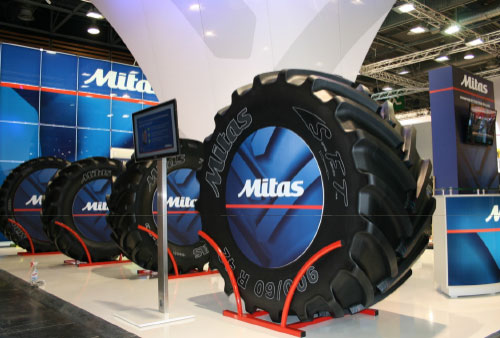 Mitas Tyres to launch its largest agricultural tyre at LAMMA 2015