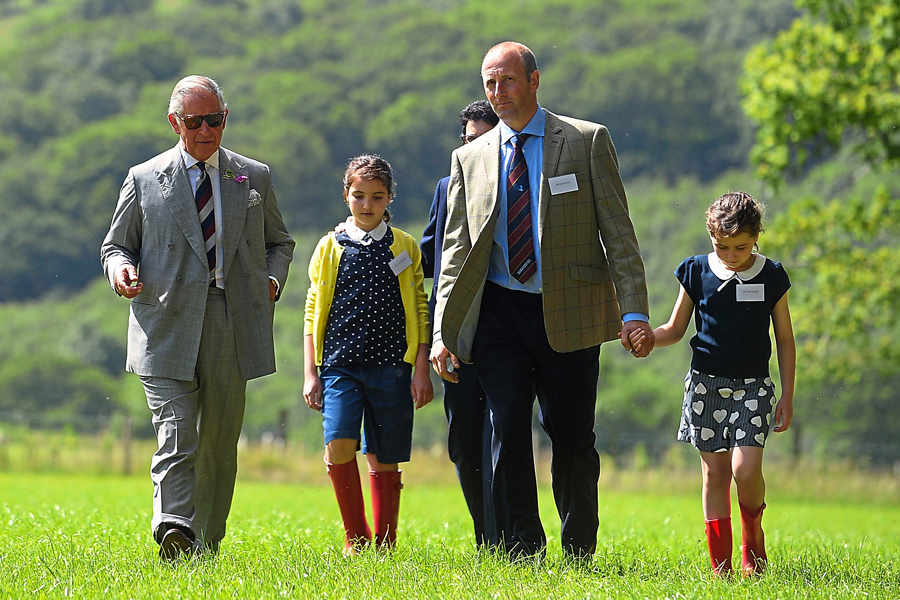 Prince Charles visits organic livestock farm in Wales