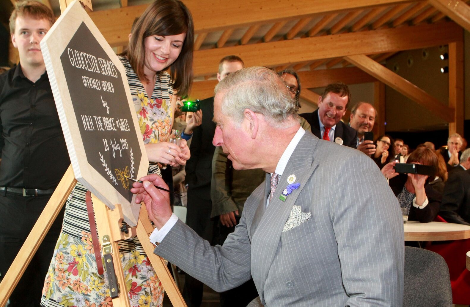 Gloucester Services officially opened by Prince Charles