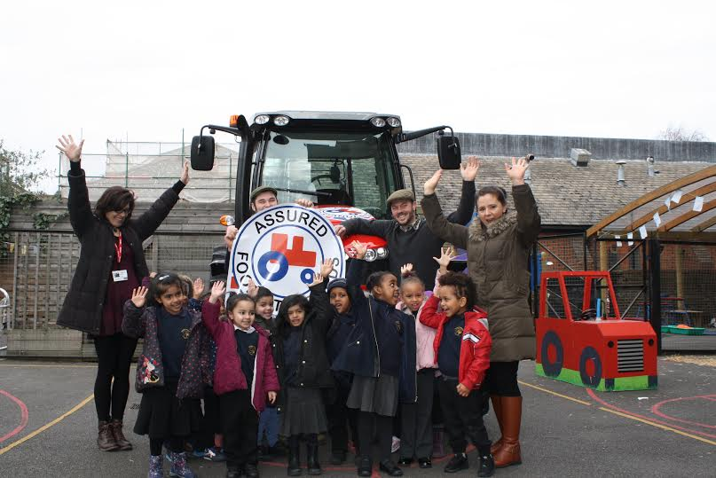 Children from Pakemen School were told how the Red Tractor logo indicates the standards adhered to when producing food