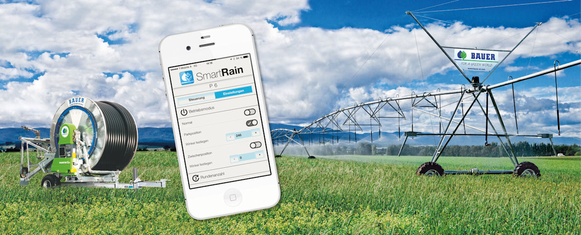 SmartRain for real-time monitoring and control of Bauer irrigators